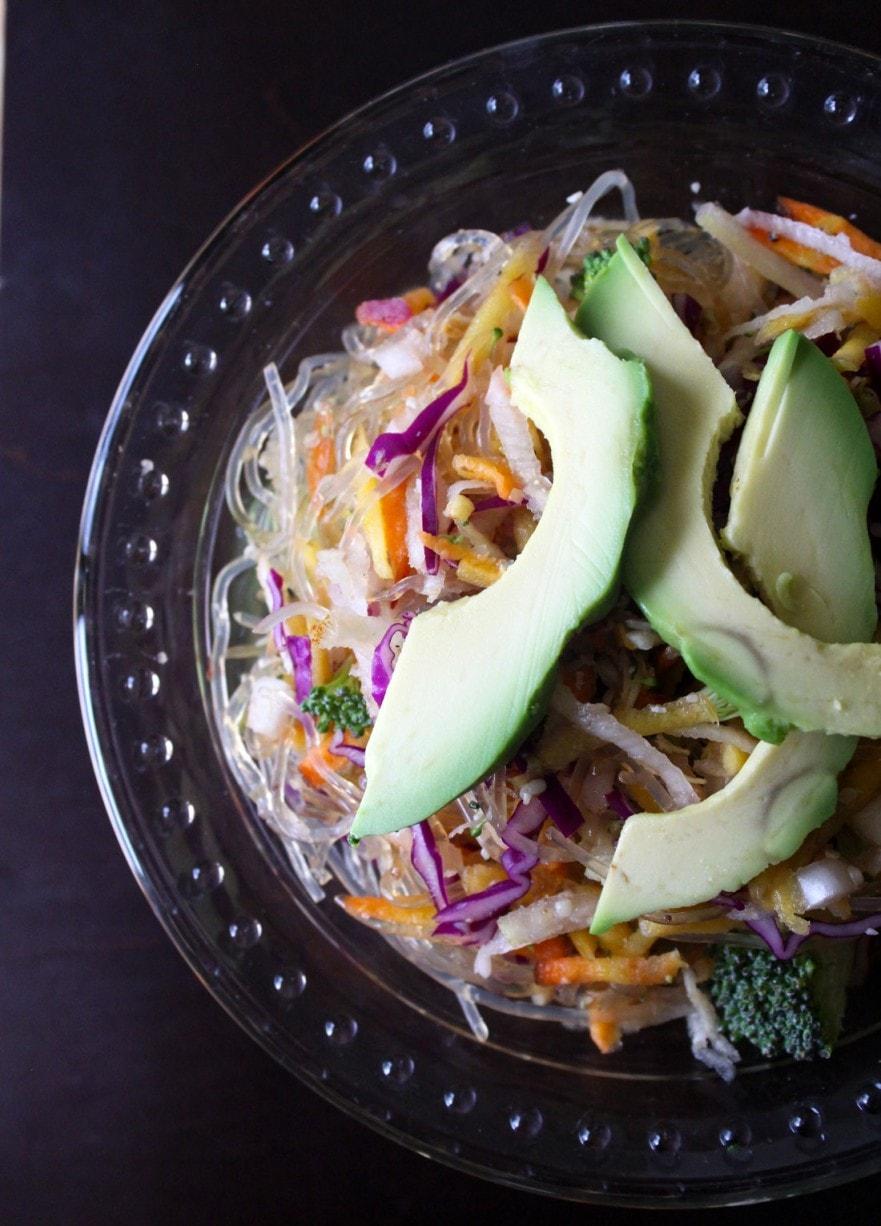 raw vegan stir fry noodle celeriac recipe