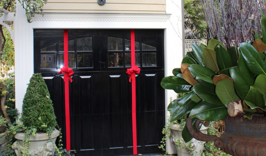 wrap garage door bow diy tutorial