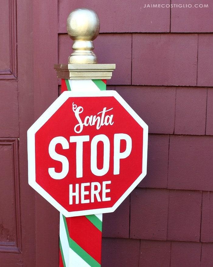 santa stop here sign xmas yard art