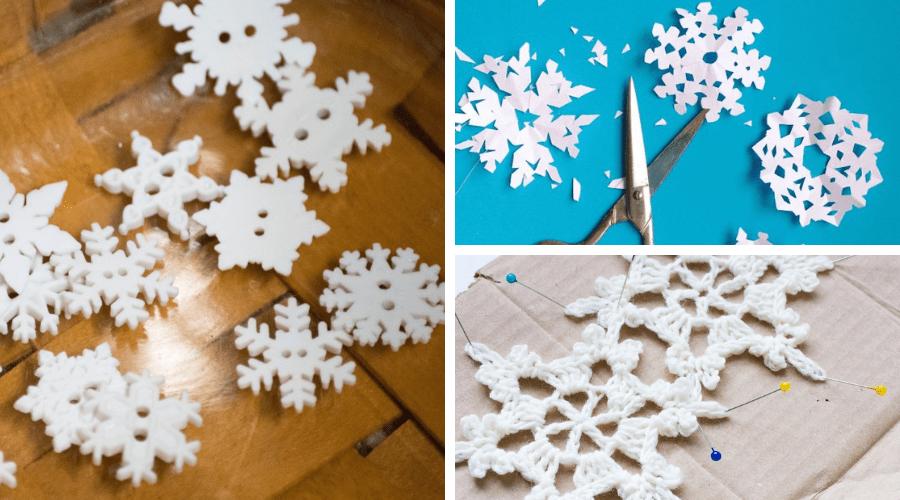 small Christmas tree ideas diy snowflakes
