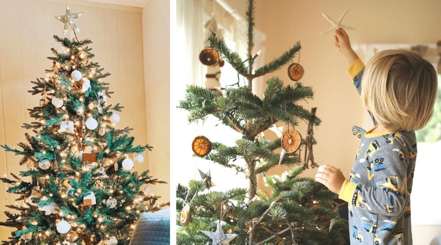 small Christmas tree ideas rustic