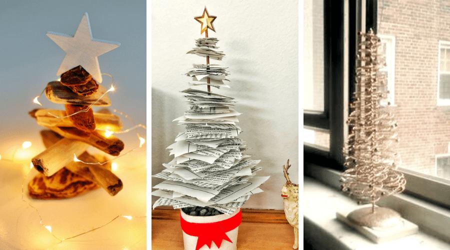 small Christmas tree ideas unconventional