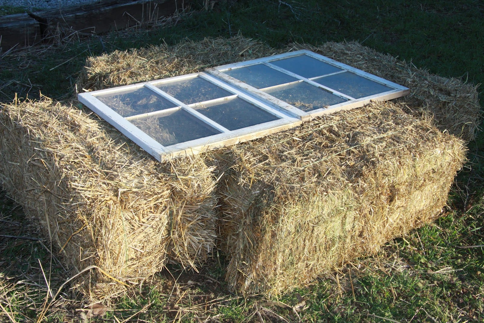 strawbale cold frame example