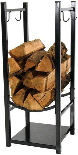 Sunnydaze Firewood Log Rack with Tool Holder Hooks