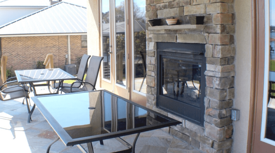 types of fireplaces wide outdoor gas fireplace