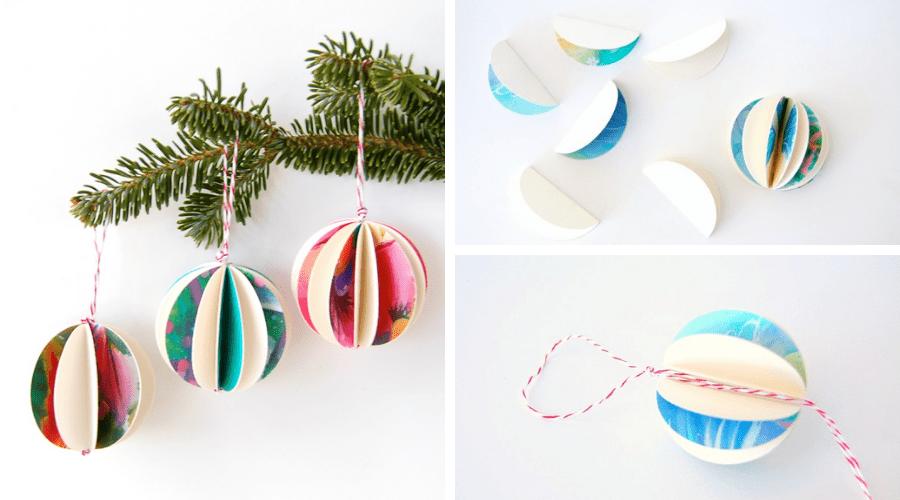 unique xmas tree decoration christmas card ornament tutorial