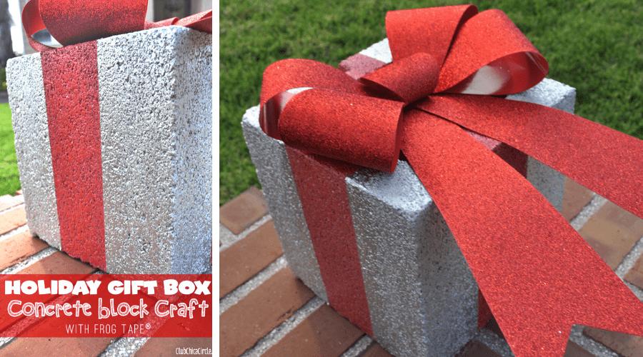 unusual outdoor xmas decor block gift diy