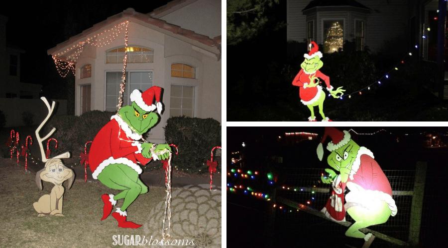 unusual outdoor xmas decor grinch stealing