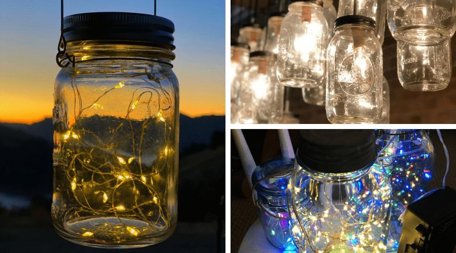 unusual outdoor xmas decor mason jar lights