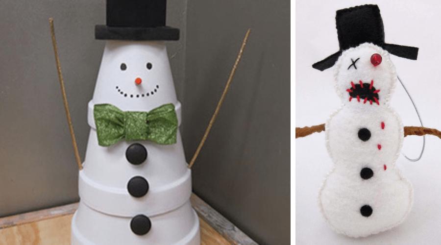 unusual outdoor xmas decor zombie snowman