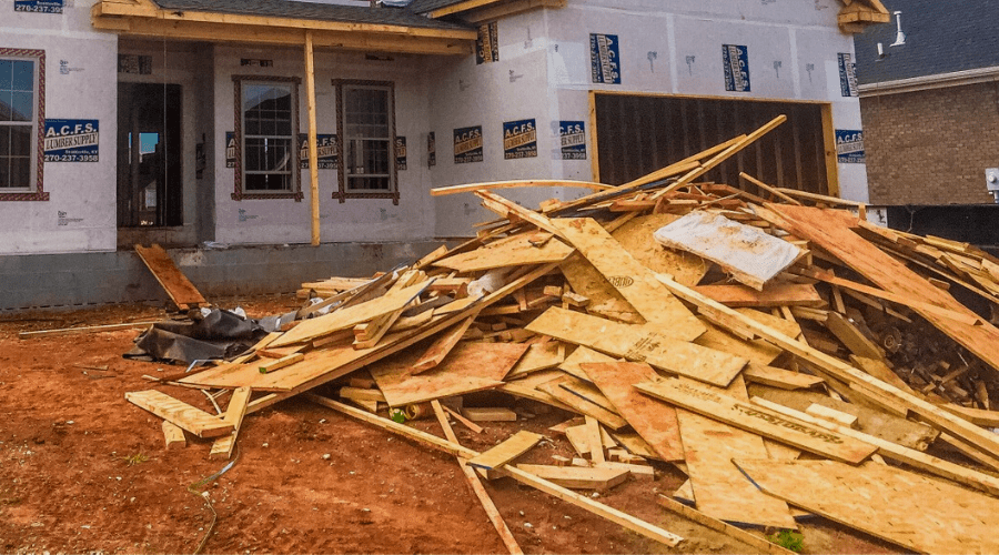 where to buy firewood wide construction site with discarded building materials in a pile