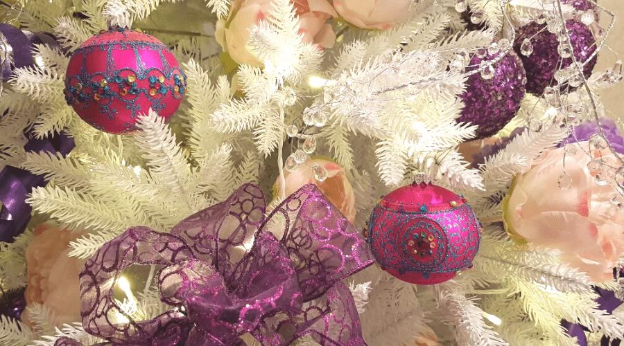 white christmas tree ideas 2020 pink and white
