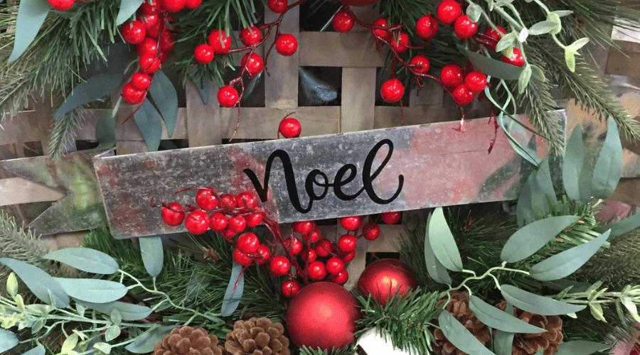 xmas door decorations diy basket wreath twenty20