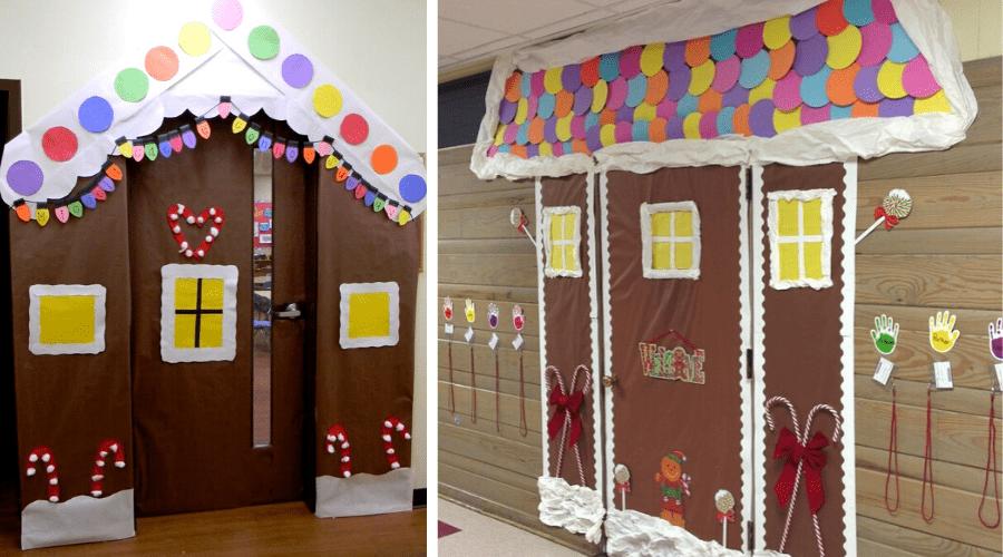 xmas door decorations diy classroom gingerbread
