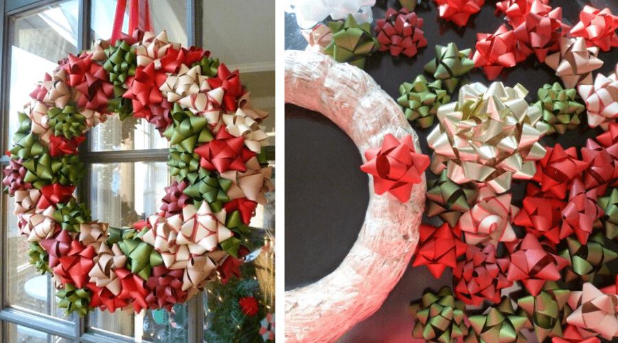 xmas door decorations diy wreath bows tutorial
