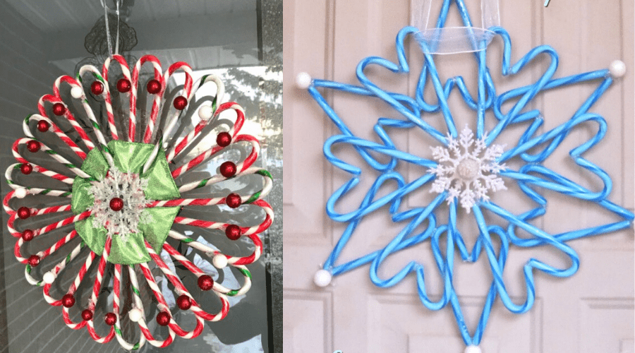 xmas door decorations diy wreath candy cane