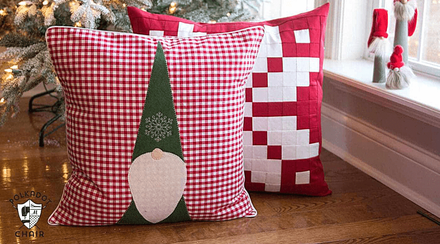 christmas garden gnome tomte pillow pattern