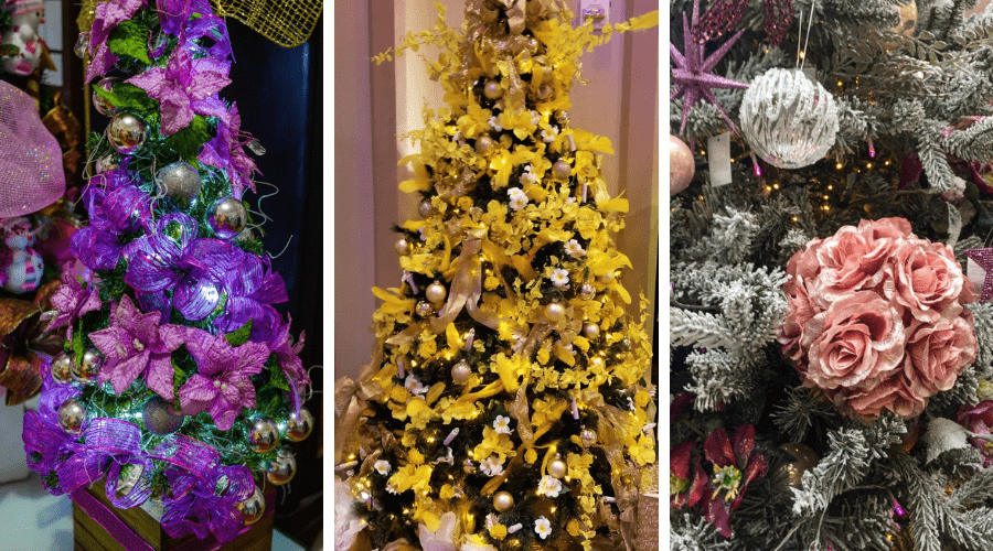 xmas tree decoration ideas christmas flower power