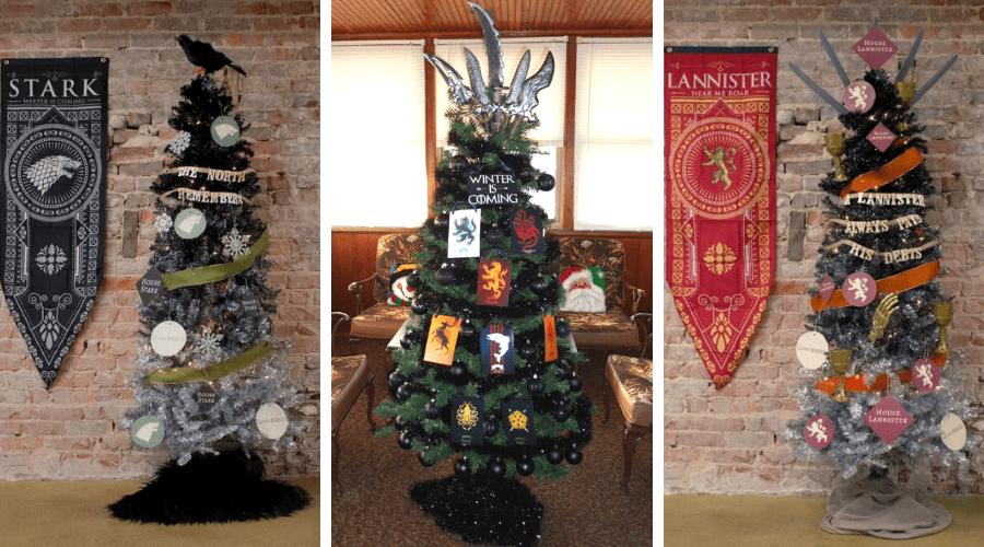 three game of thrones christmas trees