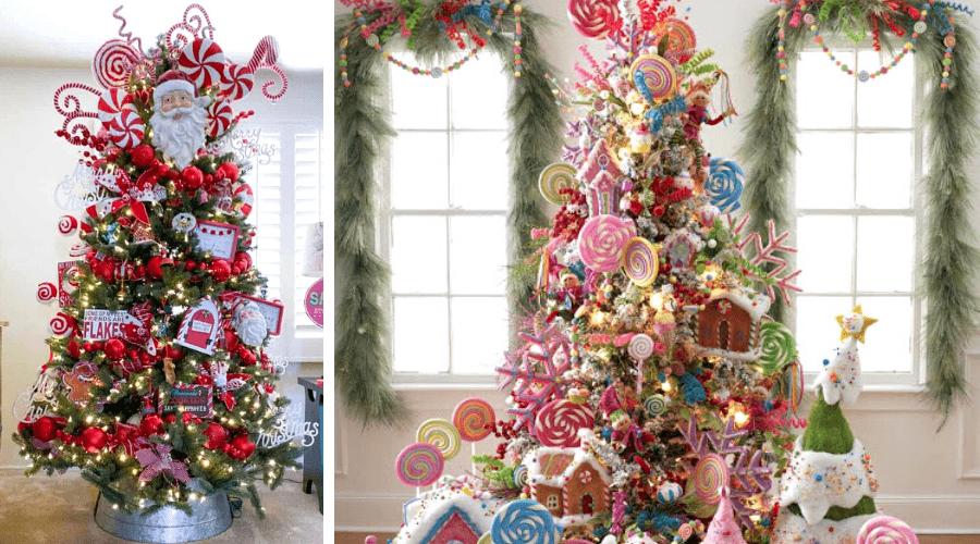 xmas tree themes candy