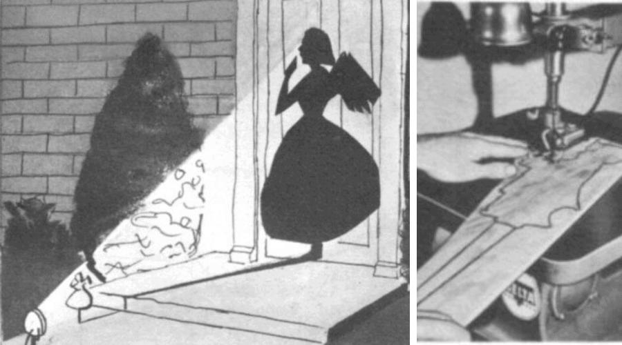 yard art silhouette vintage cutout
