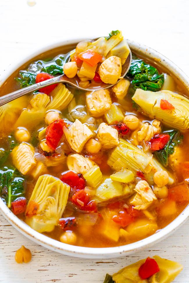 30-Minute Mediterranean Chicken Soup