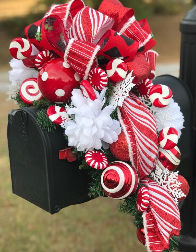 DIY Christmas mailbox swag tutorial