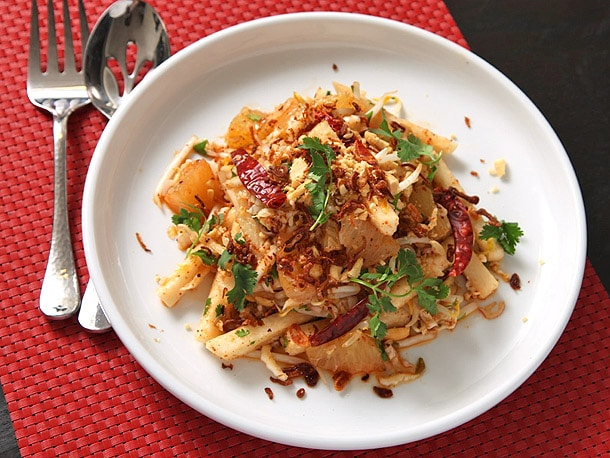 Jicama and Pomelo Salad With Spicy Thai Dressing (Vegan) Recipe