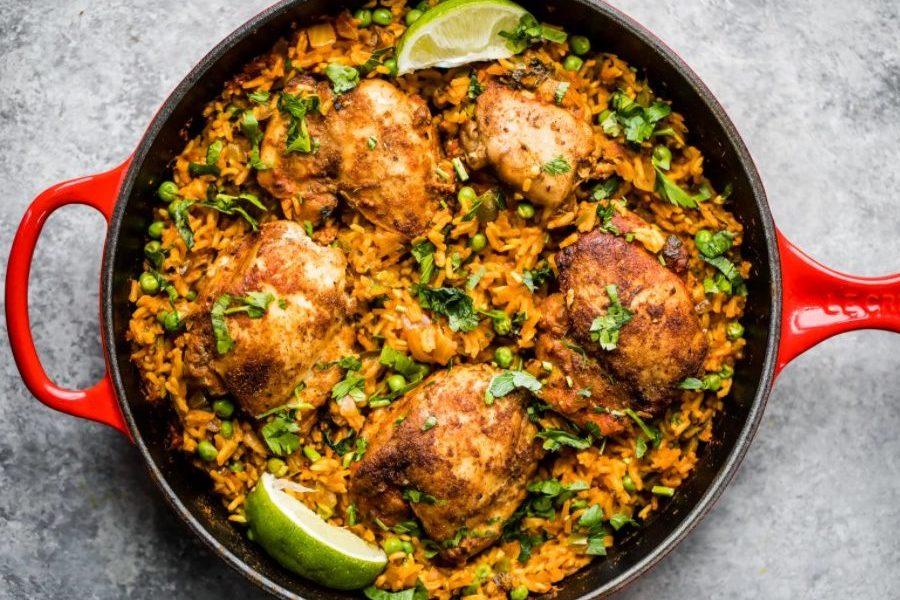 Mama's Puerto Rican Chicken and Rice (Arroz con Pollo)