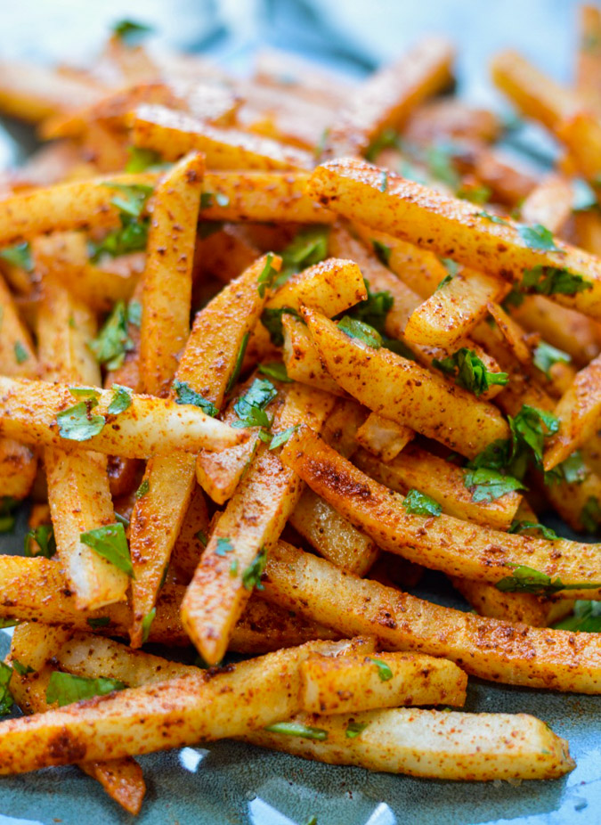 Raw Lime & Chili Spiced Jicama Fries