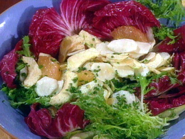 Salad of Shaved Artichokes and Sunchokes with Grapefruit