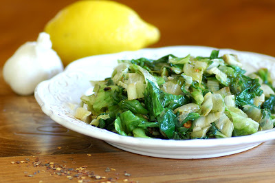 Sautéed Escarole with Garlic and Anchovies