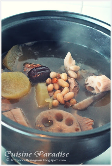 Yacon And Lotus Roots Peanut Soup