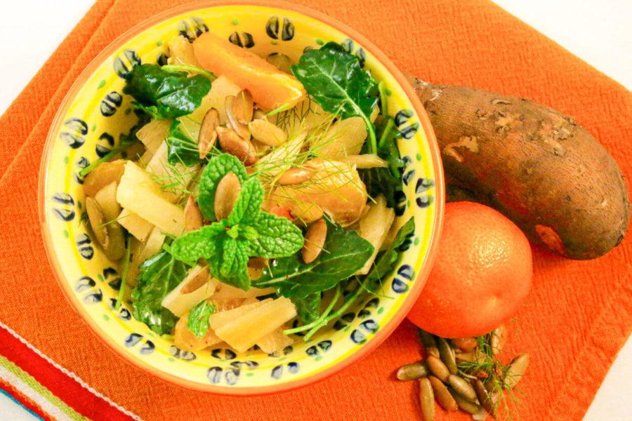 Yacon Kale Citrus Salad