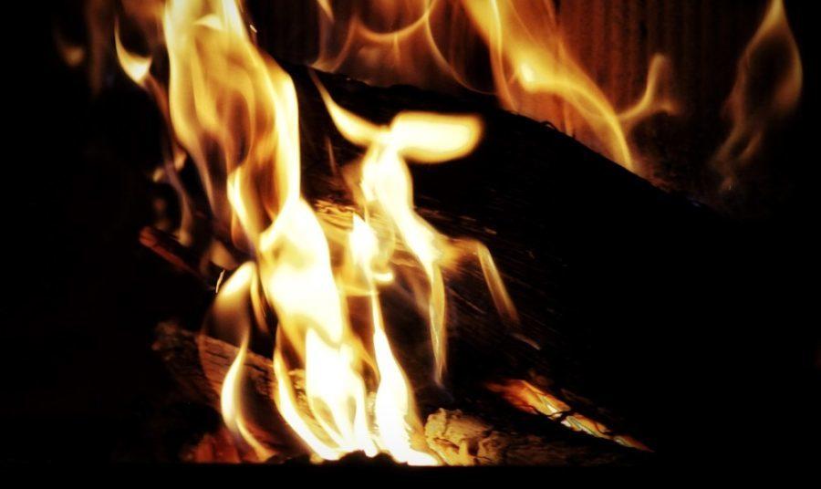 A fireplace, fire, flame, heat, closeup, hot, energy, wood, burn