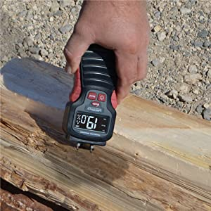 check moisture with meter firewood