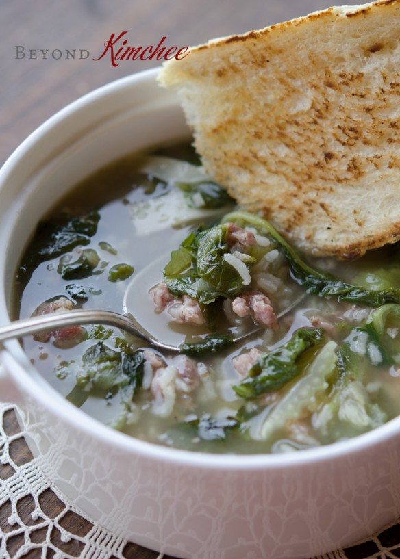 escarole sausage and rice soup recipe