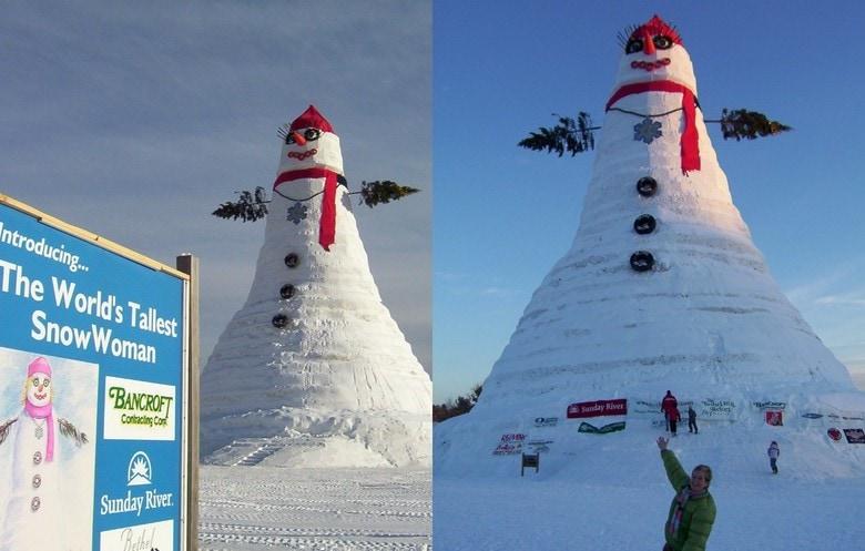world's tallest snowperson tallest