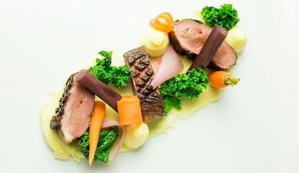 Magret Duck Recipe Braised Salsify, Pickled Shallots Kale & Celeriac Mash