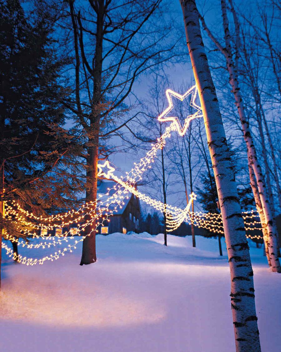 Shooting Stars Outdoor Lighting diy tutorial