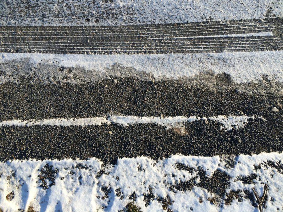 calcium chloride vs magnesium chloride salt road closeup