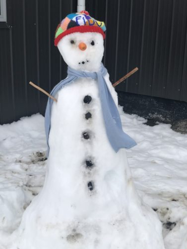 Let's make a snowman last longer with clothes insulation salt and ice