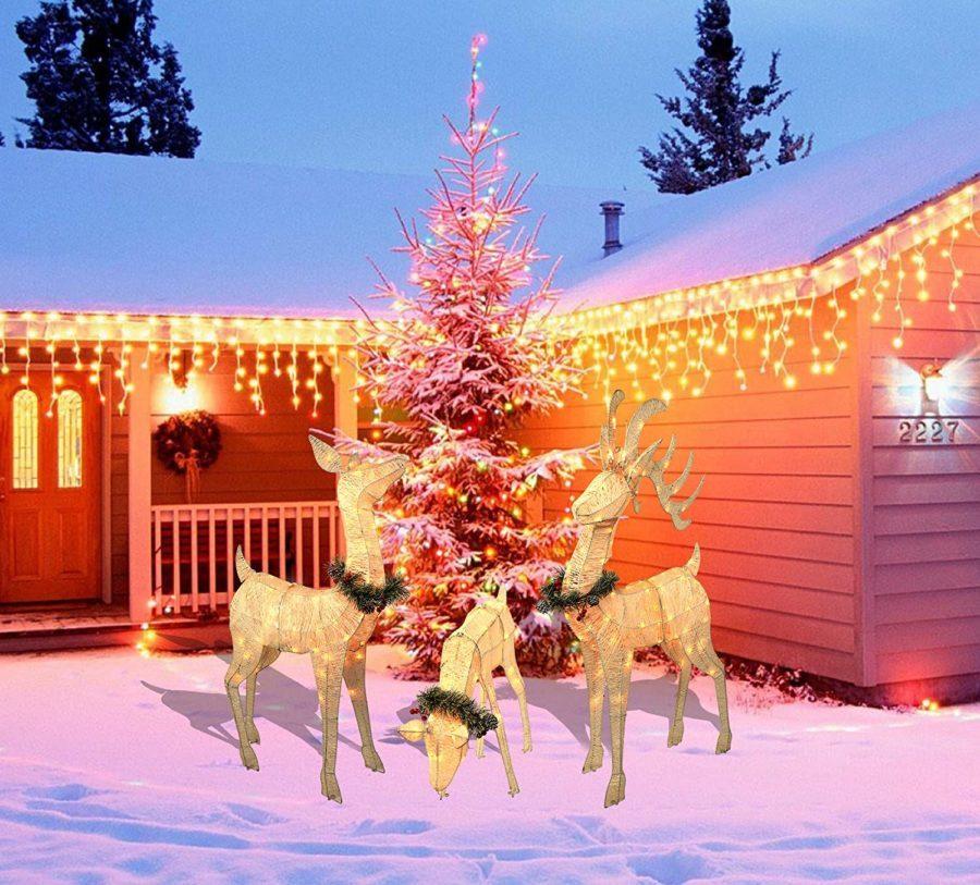 3 piece reindeeer family