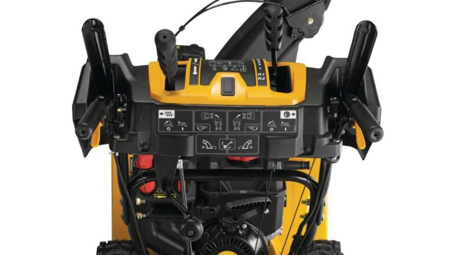 Steering controls of a 2X 24-inch Cub Cadet snow blower