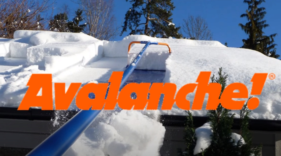avalanche snow removal system rake roof featured image