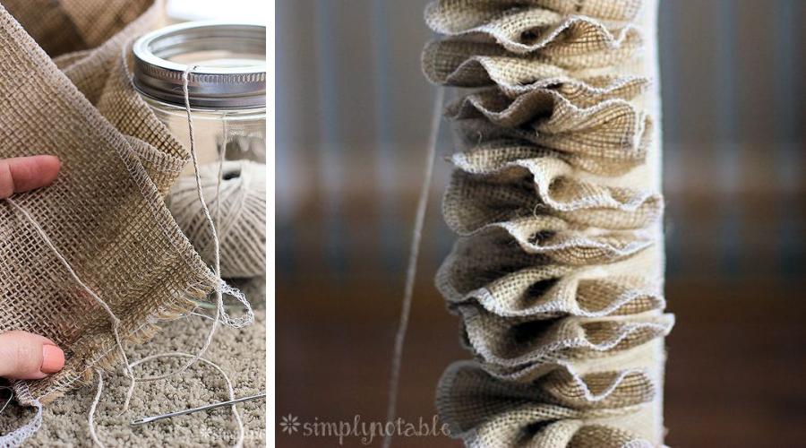 ruffled burlap christmas tree garland tutorial diy