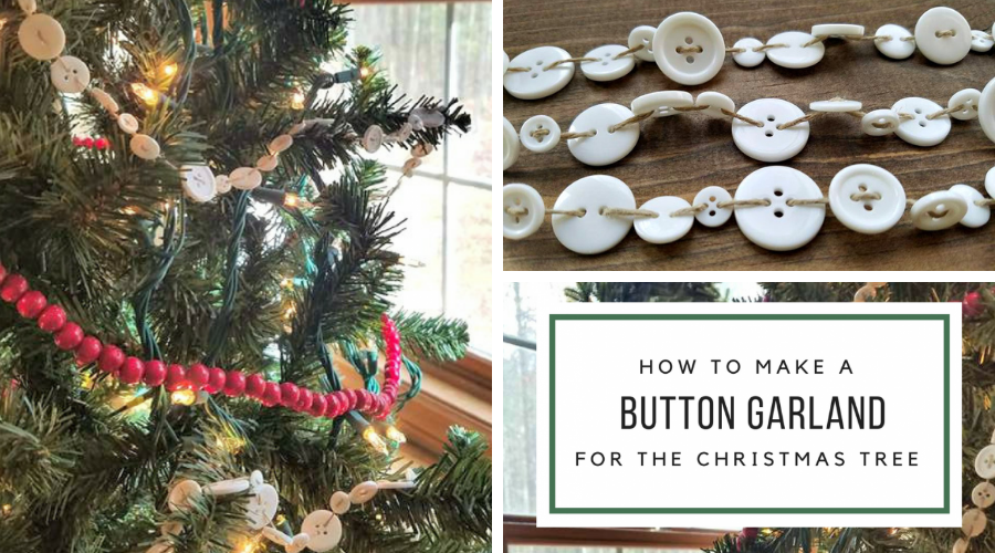 easy button garland tutorial christmas tree DIY