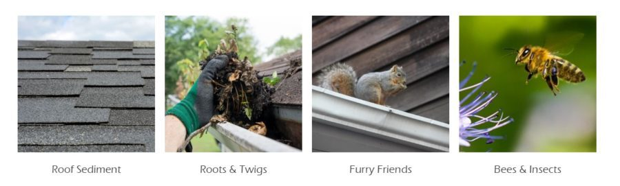 leaftek keep everything out, roof sediment, root and twigs, furry friends, bees and insects