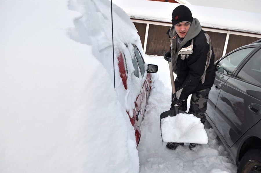 now cleaning from a car in the north of Sweden