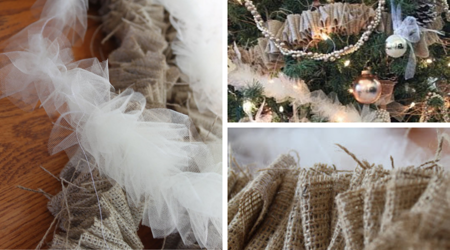 tulle and burlap garland mosaic wide